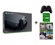 Microsoft Xbox One X 1TB + 2xPAD + 4GRY + 6M GOLD - 414074 - zdjęcie 1