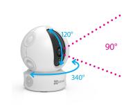 EZVIZ C6C (ez360) HD LED IR (dzień/noc) obrotowa - 420694 - zdjęcie 4