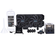 Alphacool Eissturm Gaming Copper 30 2x140mm - complete kit - 429813 - zdjęcie 1
