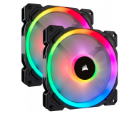 Corsair LL140 RGB LED Static Pressure 140 mm PWM (dwupak) - 398978 - zdjęcie 1