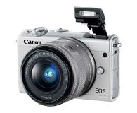 Canon EOS M100 EF-M 15-45mm IS STM biały + Irista 50GB - 440426 - zdjęcie 6