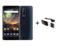 Nokia 6.1 Dual SIM granatowo-złoty + VR  - 443683 - zdjęcie 1