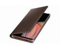 Samsung Leather View Cover do Note 9 brązowe  - 441254 - zdjęcie 1