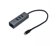i-tec Hub USB-C - 3x USB 3.0, RJ-45 (Gigabit Ethernet) - 446048 - zdjęcie 1