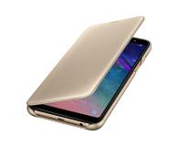 Samsung Wallet Cover do Samsung Galaxy A6+ złoty - 444720 - zdjęcie 1