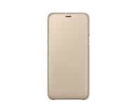 Samsung Wallet Cover do Samsung Galaxy A6+ złoty - 444720 - zdjęcie 2