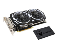 MSI GeForce GTX 1060 ARMOR 6GB + Kingston 240GB A400  - 443191 - zdjęcie 1
