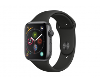 Apple Watch 4 44/Space Gray/Black Sport GPS  - 449523 - zdjęcie 1