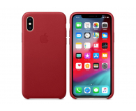 Apple iPhone XS Leather Case Product Red  - 449548 - zdjęcie 1