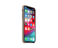 Apple iPhone XS Leather Case Taupe - 449549 - zdjęcie 2