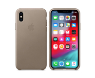 Apple iPhone XS Leather Case Taupe - 449549 - zdjęcie 1