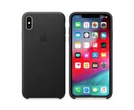 Apple iPhone XS Max Leather Case Black - 449557 - zdjęcie 1
