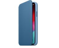 Apple iPhone XS Leather Folio Cape Cod Blue - 449569 - zdjęcie 1