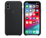 Apple iPhone XS Silicone Case Black - 449537 - zdjęcie 1