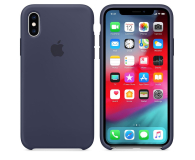 Apple iPhone XS Silicone Case Midnight Blue - 449539 - zdjęcie 1