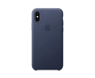 Apple iPhone XS Leather Case Midnight Blue - 449553 - zdjęcie 3