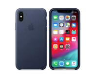 Apple iPhone XS Leather Case Midnight Blue - 449553 - zdjęcie 1