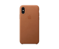 Apple iPhone XS Leather Case Saddle Brown - 449554 - zdjęcie 3