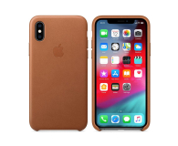 Apple iPhone XS Leather Case Saddle Brown - 449554 - zdjęcie 1