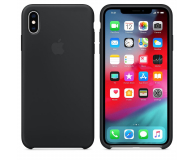 Apple iPhone XS Max Silicone Case Black - 449542 - zdjęcie 1