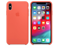 Apple iPhone XS Max Silicone Case Nectarine - 449602 - zdjęcie 1