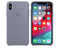Apple iPhone XS Max Silicone Case Lavender Gray - 449603 - zdjęcie 1
