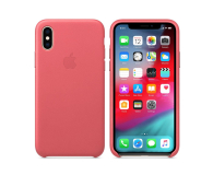 Apple iPhone XS Leather Case Peony Pink - 449590 - zdjęcie 1