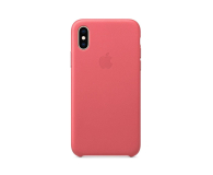 Apple iPhone XS Leather Case Peony Pink - 449590 - zdjęcie 3