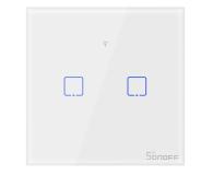 Sonoff Dotykowy Włącznik T1 EU TX (WiFi+RF433 2-kanałowy) - 524640 - zdjęcie 1