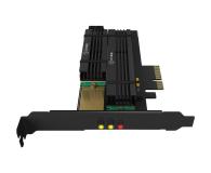 ICY BOX Karta rozszerzeń PCIe do SSD 2x M.2 Radiator - 507185 - zdjęcie 2