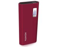 ADATA Power Bank P12500D 12500mAh 2A (czerwony) - 518804 - zdjęcie 2