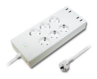 Qoltec Listwa antyprzepięciowa - 6 gniazd, 4x USB, 1.8m - 527111 - zdjęcie 1