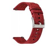 TOPP Pasek do smartwatcha Nylon Pleciony czerwony - 528046 - zdjęcie 1