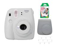 Fujifilm Instax Mini 9 biały Wkład+ Etui+ Klamerki - 529457 - zdjęcie 1