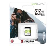 Kingston 512GB Canvas Select Plus odczyt 100MB/s - 529855 - zdjęcie 3