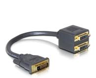Delock Adapter DVI-D - 2x DVI-D (0.2m, czarny) - 525254 - zdjęcie 1