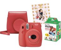 Fujifilm Instax Mini 9 czerwony wkład 2x10+Etui+Ramka  - 529250 - zdjęcie 1