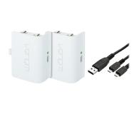 Venom XBO Twin Battery Pack + 2 metrowy kabel - white - 530792 - zdjęcie 1