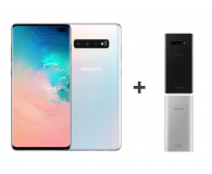 Samsung Galaxy S10+ G975F Prism White + ZESTAW - 493913 - zdjęcie 1