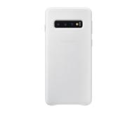 Samsung Leather Cover do Galaxy S10 biały  - 478363 - zdjęcie 1