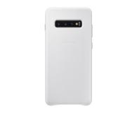 Samsung Leather Cover do Galaxy S10+ biały - 478402 - zdjęcie 1