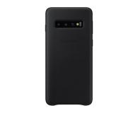 Samsung Leather Cover do Galaxy S10 czarny - 478361 - zdjęcie 1