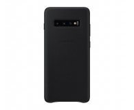 Samsung Leather Cover do Galaxy S10+ czarny - 478401 - zdjęcie 1