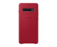 Samsung Leather Cover do Galaxy S10+ czerwony - 478408 - zdjęcie 1