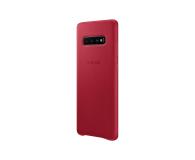 Samsung Leather Cover do Galaxy S10+ czerwony - 478408 - zdjęcie 4