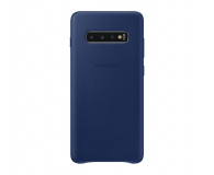 Samsung Leather Cover do Galaxy S10+ granatowy - 478407 - zdjęcie 1