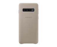 Samsung Leather Cover do Galaxy S10 szary - 478368 - zdjęcie 1