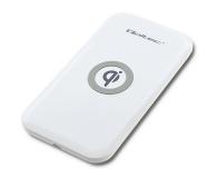 Qoltec Indukcyjna Quick charge 10W (biały) - 480648 - zdjęcie 1