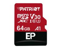 Patriot 64GB EP microSDXC 100/80MB (odczyt/zapis) - 485619 - zdjęcie 1