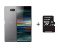 Sony Xperia 10 I4113 3/64GB Dual SIM srebrny + 64GB - 483267 - zdjęcie 1